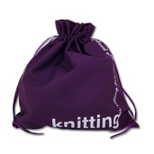 "Edict Project Bag<br>""Knitting is Sitting<br>For Creative People"""