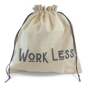 """Edict Project Bag-Large """"Work Less, Knit More"""""""