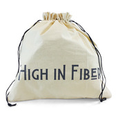 "Edict Project Bag-Large ""High in Fiber Low in Calories"""