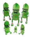 "Fiesta Stuffed Mr. Pickle 12"""