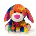 Rianbow Crushed Tie Dye Dog 10.5""