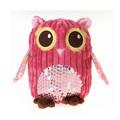 """Fiesta Girly Pink Owl Plush 8.5"""""""