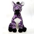 "Fiesta Stuffed Lavender Zebra 15"""