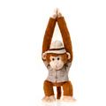 """Fiesta Stuffed Zoo Keeper Monkey 20"""""""