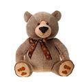 "Fiesta Stuffed Taupe Sitting Bear 30"""