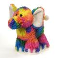 "Rianbow Crushed Tie Dye Elephant 10.5"""