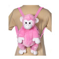 "16"" Pink Monkey Backpack"