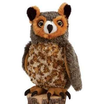 Fiesta Stuffed Great Horned Owl 10&quot; picture