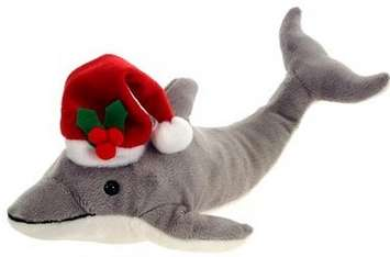 "Fiesta Holiday Santa Dolphin 11.5"" picture"