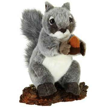 "Fiesta Stuffed Gray Squirrel 9"" picture"