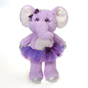 "Tutu Sweet - Twinkle Purple Elephant 12"" picture"