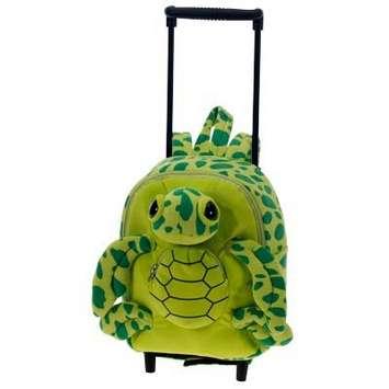 "Fiesta Stuffed Turtle Rolling Backpack 12"" picture"