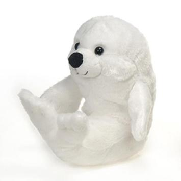 "Travel Tails - Bean Bag White Seal 9"" picture"