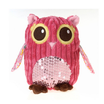 """Fiesta Girly Pink Owl Plush 6.5"""" picture"""