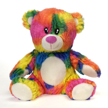 """Rianbow Crushed Tie Dye Bear 10.5"""" picture"""