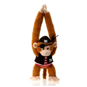 "Fiesta Stuffed Pirate Monkey 20"" picture"
