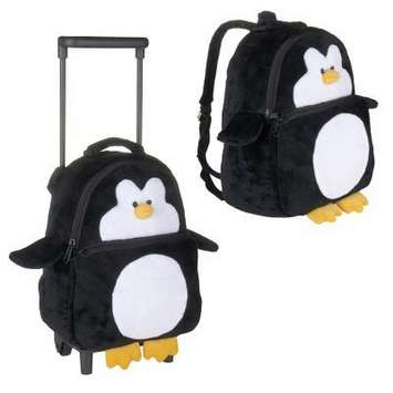 "Fiesta Plush Penguin Rolling Backpack 12"" picture"