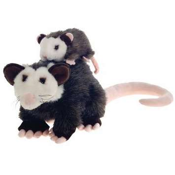 "Fiesta Stuffed Opossum With Baby 10"" picture"