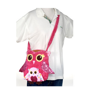 """Fiesta Girly Pink Owl Purse 11"""" picture"""
