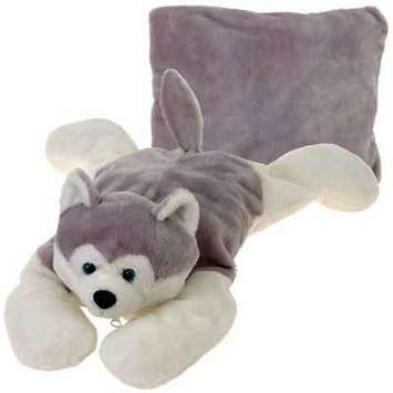 "Peek-A-Boo Plush Husky Dog 18"" picture"
