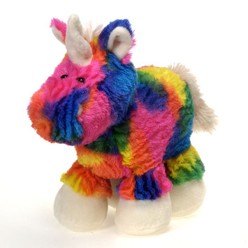 """Rianbow Crushed Tie Dye Unicorn 10.5"""" picture"""