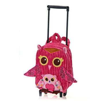"""Fiesta Girly Pink Owl Backpack/Trolley 11"""" picture"""