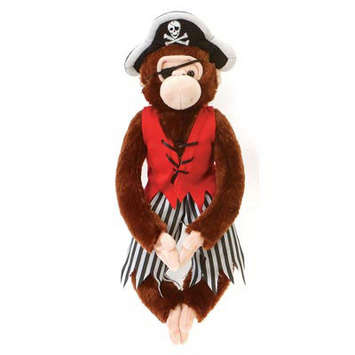 "Fiesta Stuffed Pirate Monkey (brown) 16"" picture"