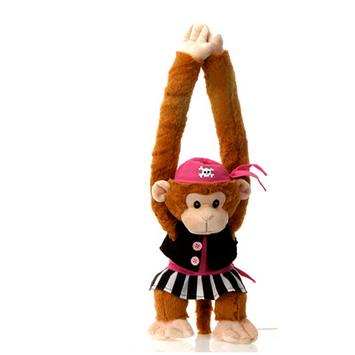 "Fiesta Stuffed Pirate Girl Monkey 20"" picture"