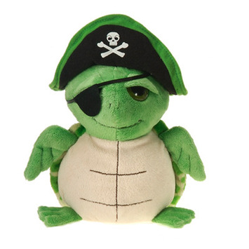 "Fiesta Stuffed Pirate Turtle 9"" picture"