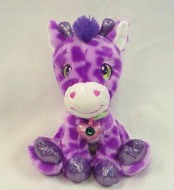 """Sparkle Starz - Iggy Purple Giraffe 8"""" picture"""