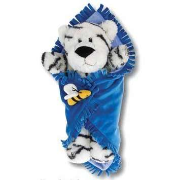 "Fiesta Blanket Babies White Tiger 11"" picture"