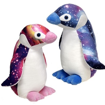 """15"""" Galaxy Penguin- BLUE picture"""