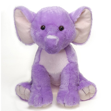 "Fiesta Stuffed Lavender Elephant 15"" picture"