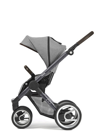 Evo dark grey farmer chassis with dark brown handle and farmer mist seat unit picture
