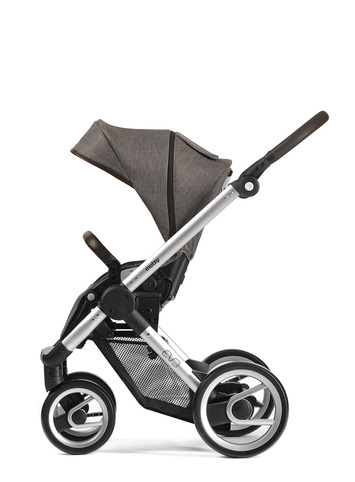 Evo silver farmer chassis with dark brown handle and farmer earth seat unit picture