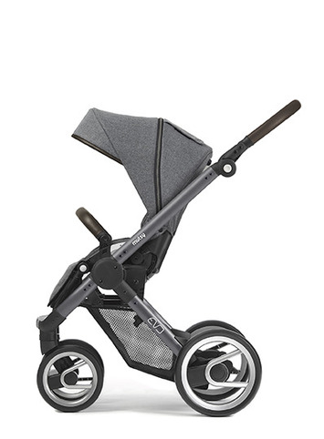 Evo blue grey farmer chassis with dark brown handle and farmer fishbone dawn seat unit picture