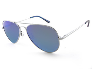 MAVERICK - Silver w/Brown lens (Blue Mirror) picture