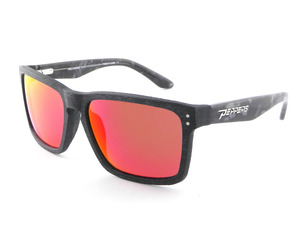 SUNSET BEACH - Matte Black to Grey Tort w/Smoke Lens(Red Mirror) picture