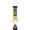 "Team Sports 15"" Navy Blue and Yellow Sunflower/Mixed Seed Feeder"