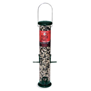 Ring Pull 15&quot; Forest Green Sunflower/Mixed Seed Feeder with Microban Antimicrobial Technology picture