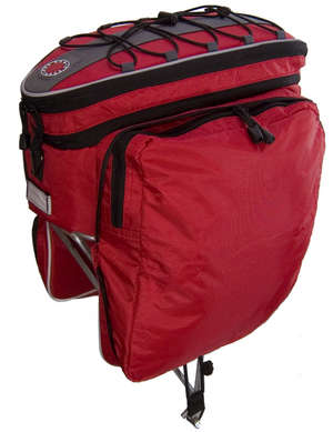 Rack Top Pannier Bag, Expanding, Red picture