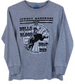 YTH New Bulls Blood Dust & Mud L/S Tee, Grey Heather