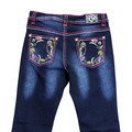 Infant/ Toddler Floral Trim Jean