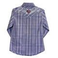 Youth Tonal Heart Long Sleeve Plaid