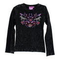 Youth Floral Horse Long Sleeve Mini Waffle