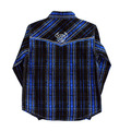 Youth Distressed Long Sleeve Plaid