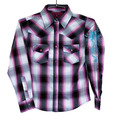 Youth Hombre Long Sleeve Plaid