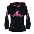 Youth Filigree Horse Hood Waffle Pullover