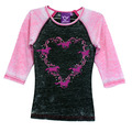 Youth Horse Wreath Raglan 3/4 Sleeve