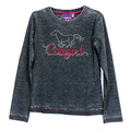 Toddler Glitter Horse Long Sleeve Crew Neck